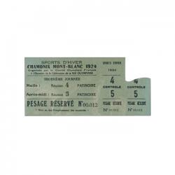 1924 Chamonix olympic speed skating ticket
