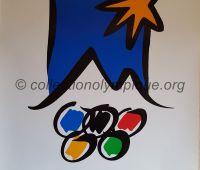 1992 Albertville Olympic poster official logo 60 X 80 cm