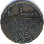 1948 London olympic participant medal recto, bronze - athlets and NOC members - 51 mm - 8678 ex. - designers Bertram MACKENNAL - John PINCHES