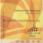 2006 Turin billet olympique cérémonie ouverture recto