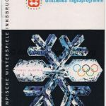 1964 Innsbruck olympic daily program, luge, nordic combined, women giant slalom