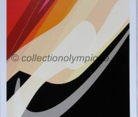2006 Torino Olympic poster luge 42 x 29,5 cm