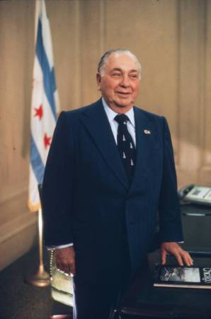 Portrait of Richard J. Daley at his desk at City Hall - Richard J. Daley  Era Photographs (University of Illinois Chicago) - CARLI Digital Collections
