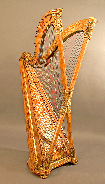 NMM 5728.  Double chromatic harp by Henry Greenway, Brooklyn, NY, ca. 1895