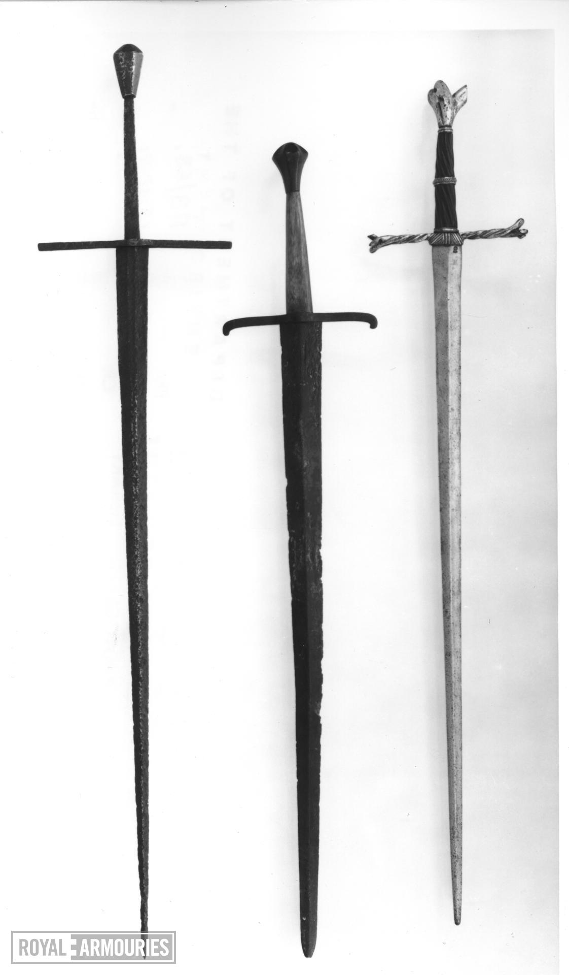 Sword Writhen Hilted Sword 1480 Royal Armouries Collections