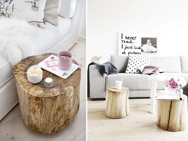 diy home inspo tree stump coffee