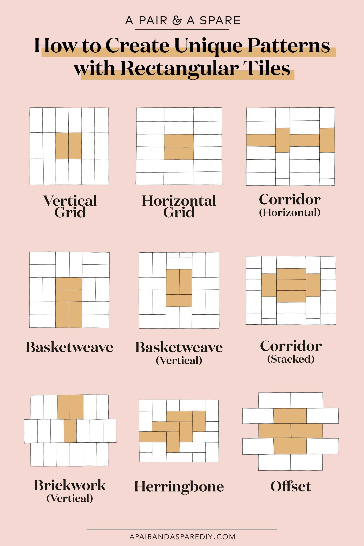 rectangular tiles pattern collective gen