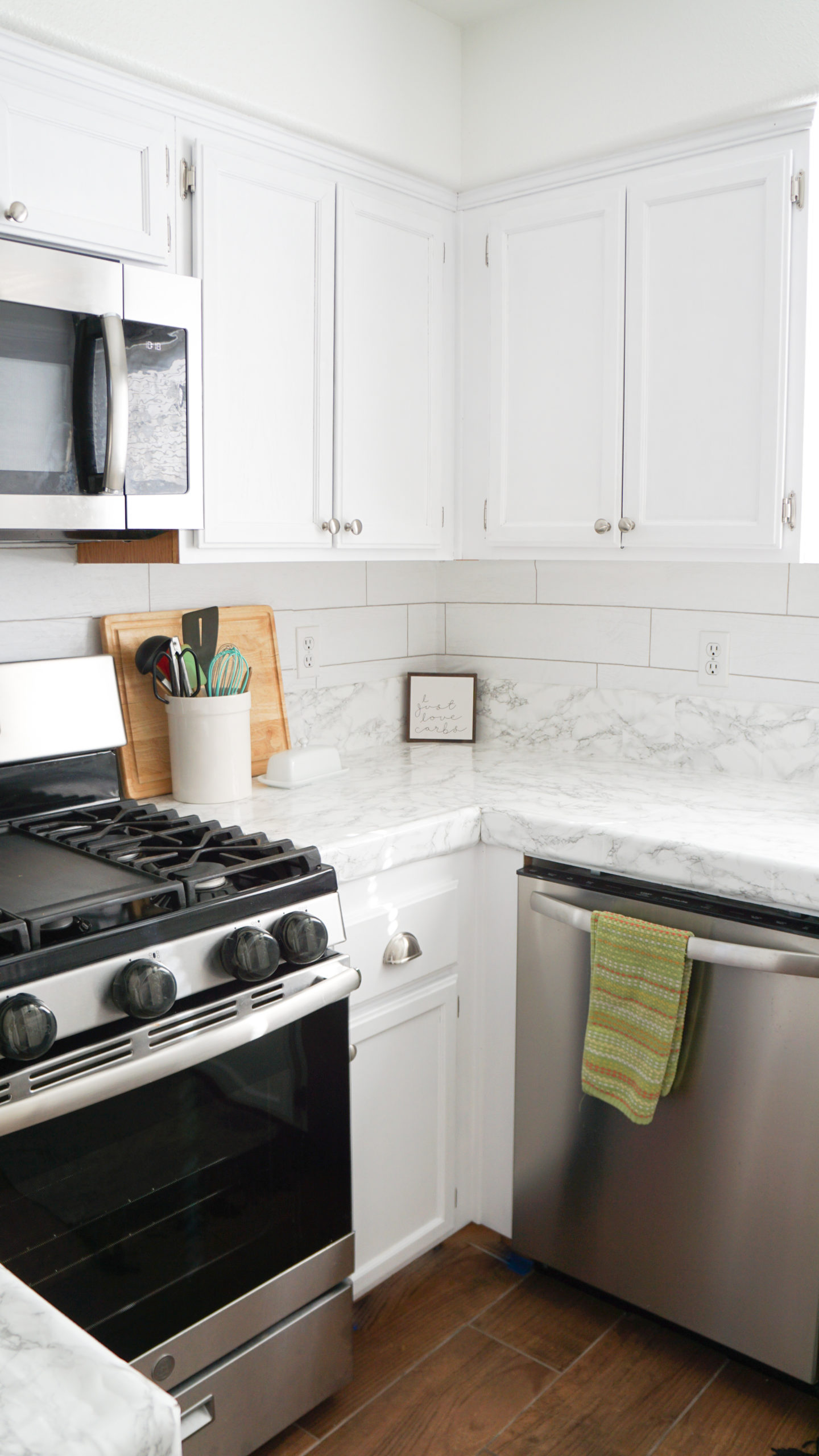 How to Paint Honey Oak Kitchen Cabinets - Collectively Casey