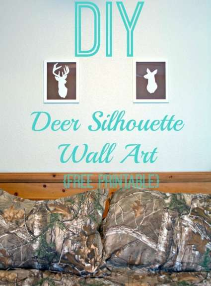 DIY Deer Silhouette Wall Art {Free Printable}