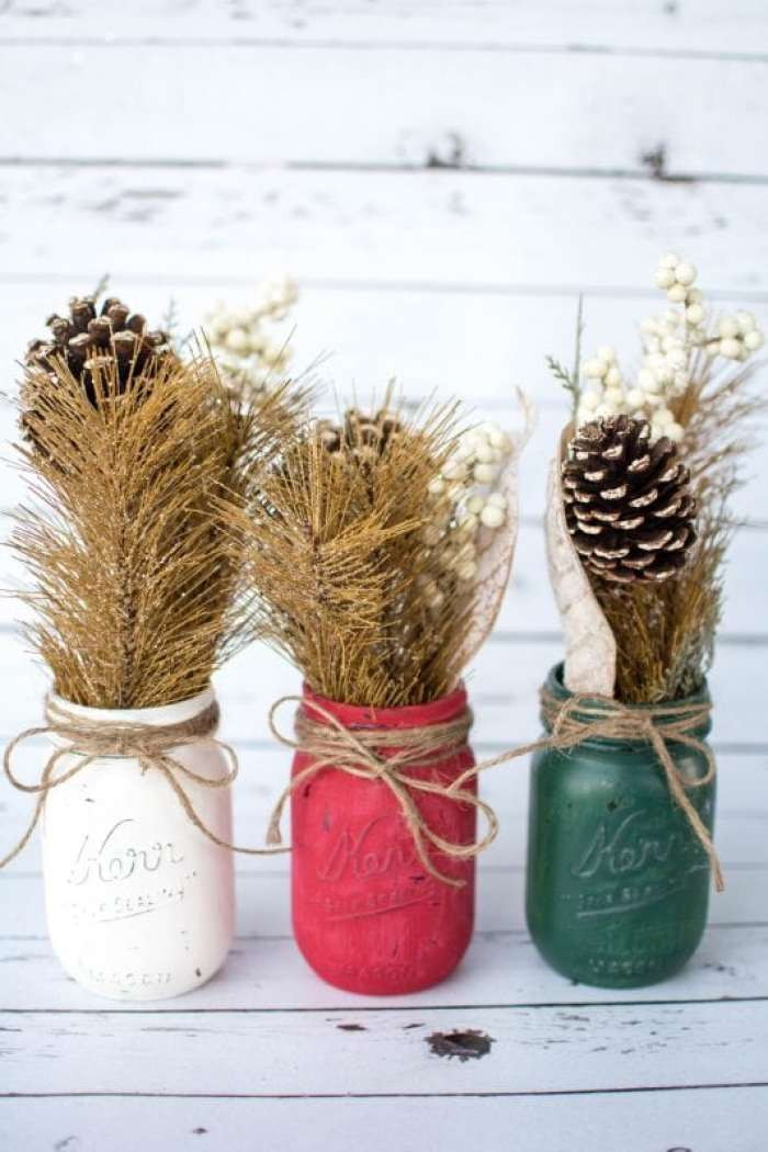 Christmas Rustic Mason Jar DIY