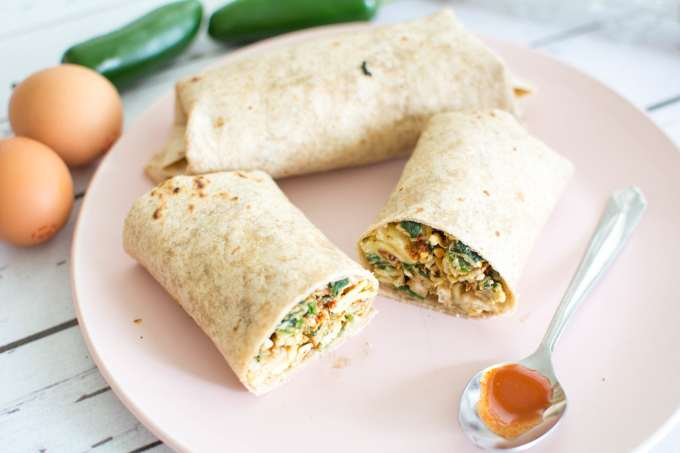 Spicy Egg Breakfast Burrito