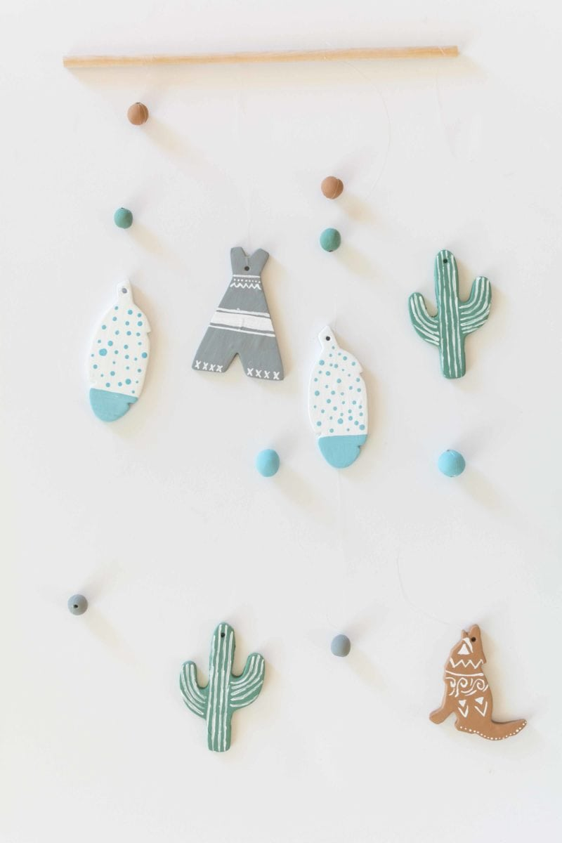 diy southwestern inspired wall hanging mobile