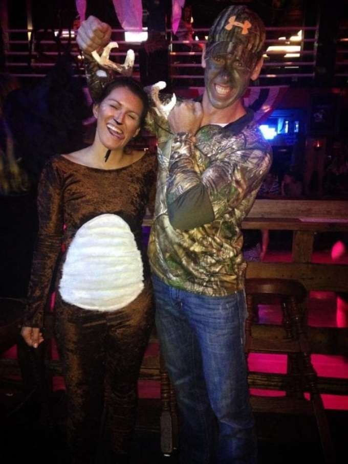Deer and Hunter Couple Costume