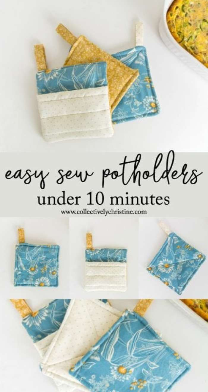 easy diy sew potholders