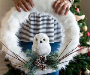 Snowy Owl Christmas Wreath {DIY}