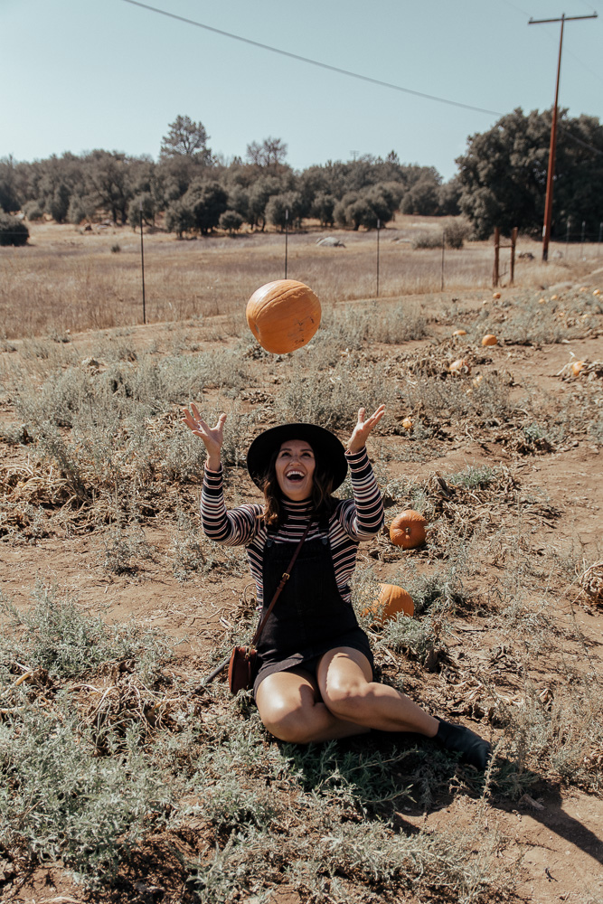 Cute Pumpkin Patch Outfit Black Overalls