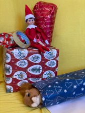 Wrapping activity for toddlers