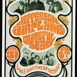 Jefferson Airplane and Grateful Dead (Postcard)