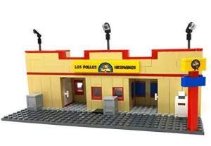 Modbrix - Los Pollos Restaurant Bausteine Haus, 388 Klemmbausteine, Minifig Scale