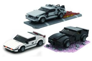 Modbrix - Movie Cars 3in1 Set Bausteine Autos aus bekannten Filmen und Serien
