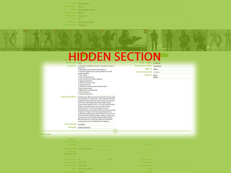 Detailed View – Hidden Section