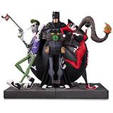 The Batman, Joker & Harley Quinn Bookend / DC Collectibles