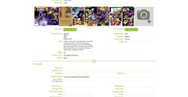 Detail view – comic