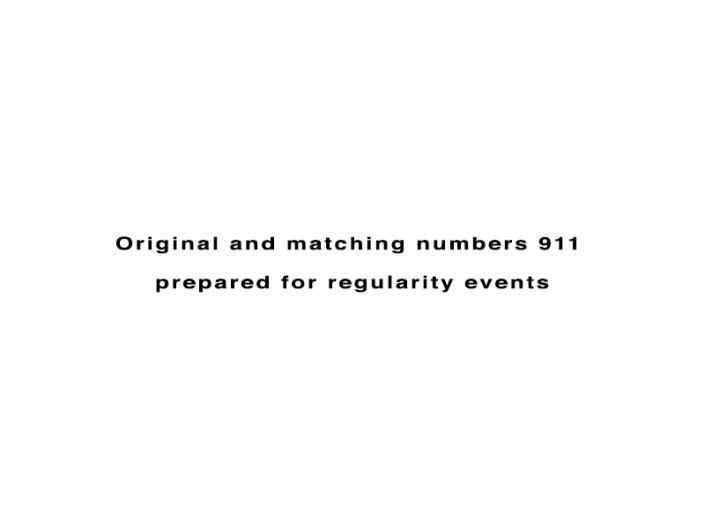 Original and matching numbers 911 prepared for regularity events