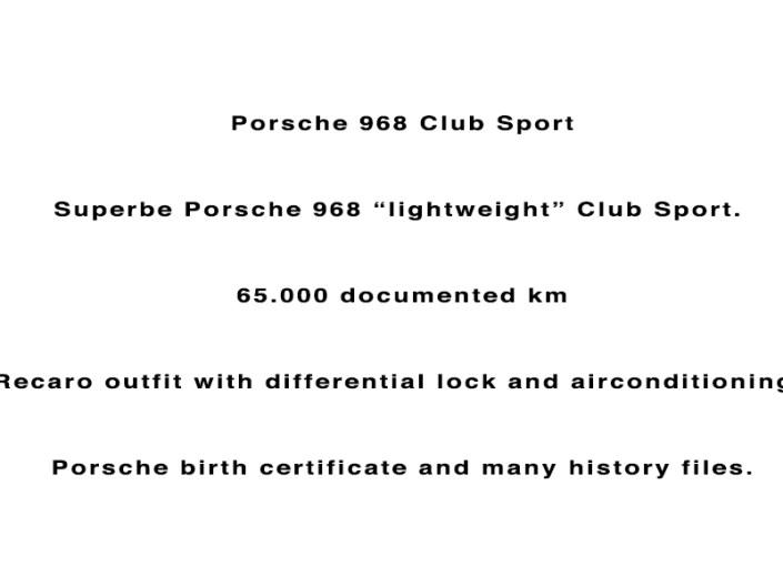 club sport porsche