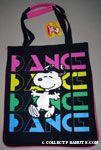 Snoopy dancing on Dance background Tote Bag