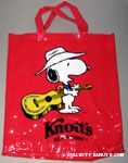 Cowboy Snoopy with guitar Knott's Berry Farm Tote Bag