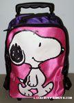 Snoopy walking Pink & Purple rolling Suitcase