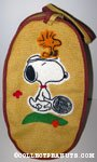 Snoopy with Tennis Racket and Woodstock Burlap Bag