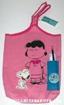 Snoopy & Lucy School Tote Bag with original Pencil and Ruler
