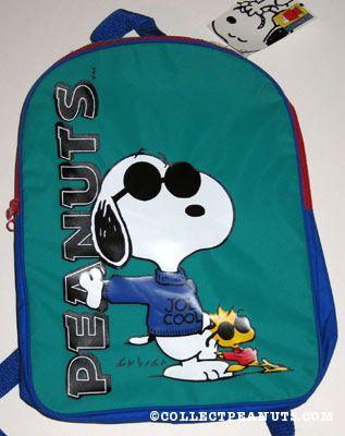 46c4fe3398 Stuffed Snoopy wearing vest. Backpack. Joe Cool and Woodstock. Joe Cool and  Woodstock