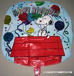 Snoopy & Woodstock holding Balloons 'Happy Birthday' Mylar Balloon