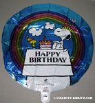 Snoopy & Woodstock with cake 'Happy Birthday' Mylar Balloon