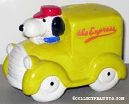Snoopy in Yellow Truck
