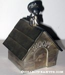 Flying Ace on Doghouse Silverplated Bank