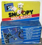 Snoopy shaking hands with Woodstock by rainbow Pedal Blocks