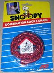 Snoopy riding bike Red Combination Lock & Chain