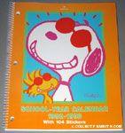 Joe Cool & Woodstock portrait School-year Calendar 1992-1993