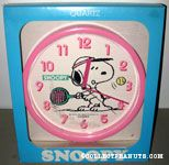 Snoopy playing Tennis Wall Clock