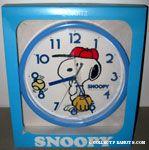 Snoopy playing baseball Wall Clock