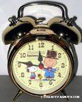 Snoopy, Charlie Brown & Woodstock Gold Anniversary Alarm Clock