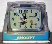 Joe Lawyer Snoopy & Woodstock with briefcases Alarm Clock