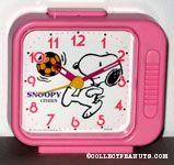 Snoopy playing soccer Alarm Clock
