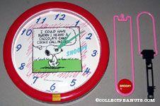 Snoopy walking 'Chocolate Chip Cookie Calling' Pendulum Wall Clock