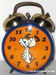 Snoopy Dancing Alarm Clock - Orange & Blue