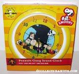 Peanuts Gang under tree Sound Clock